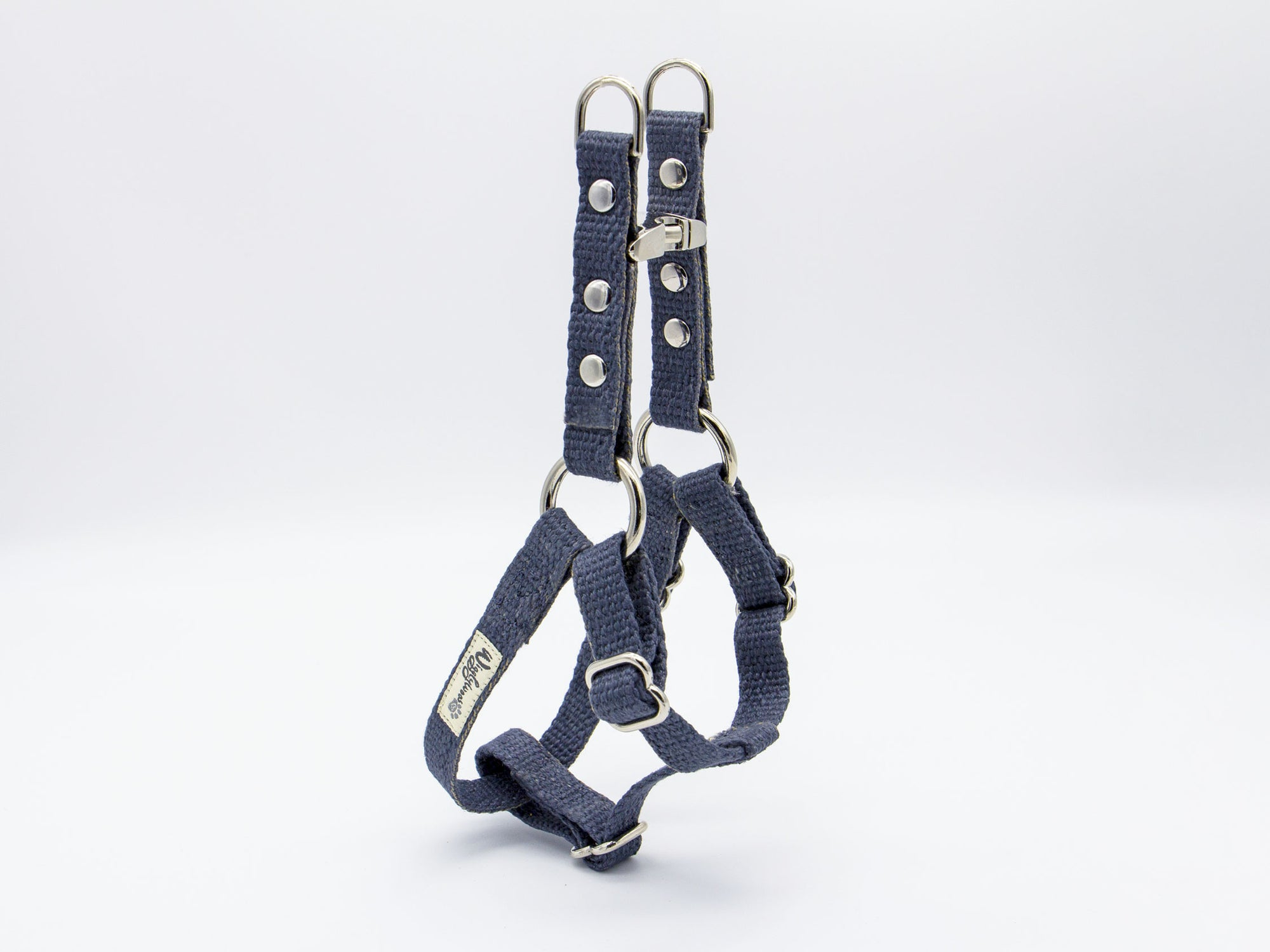 Nantucket Blue Just Hemp Adjustable Step-In Dog Harness