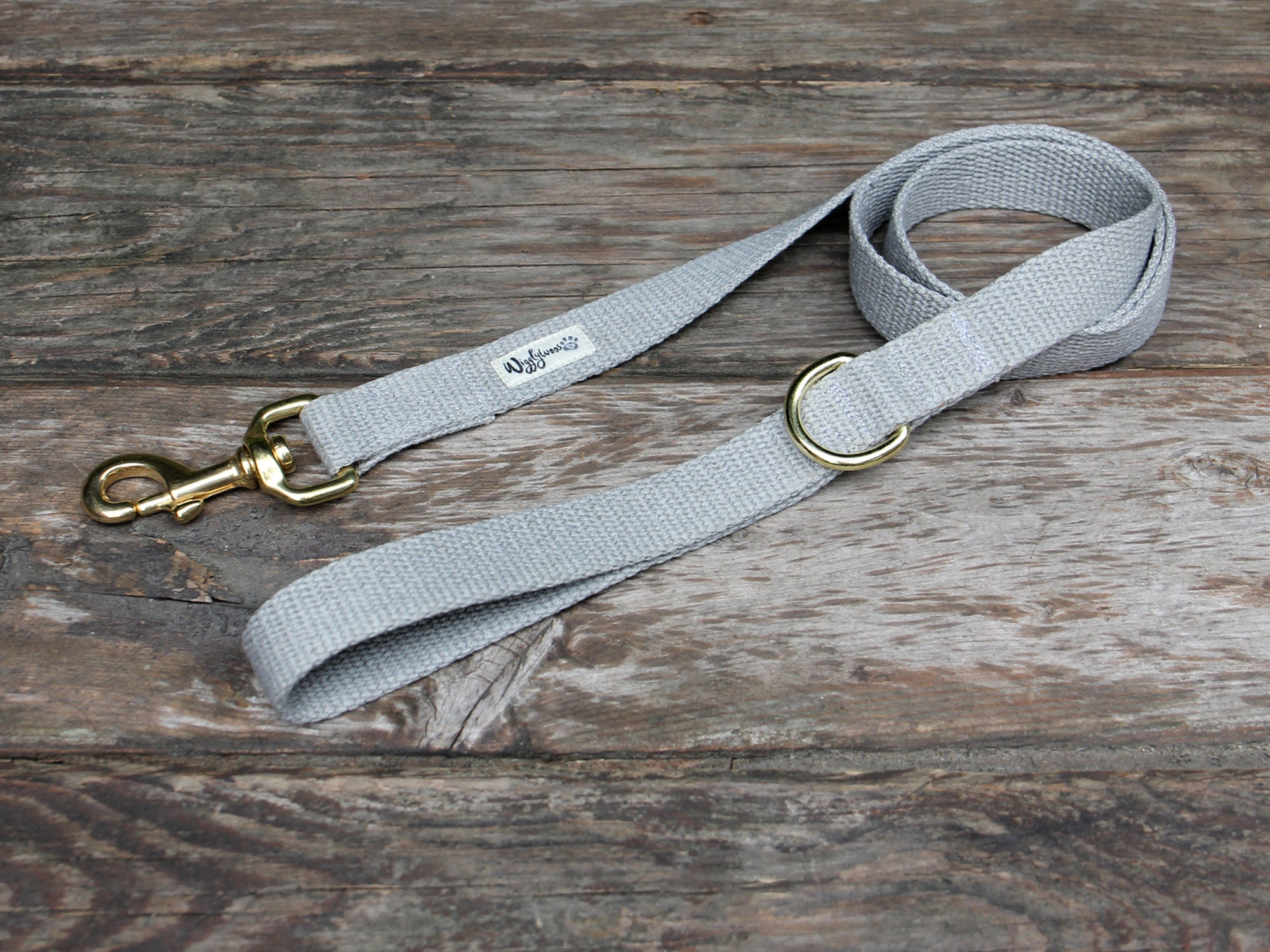 Pebble Beach Flat Hemp Dog Leash