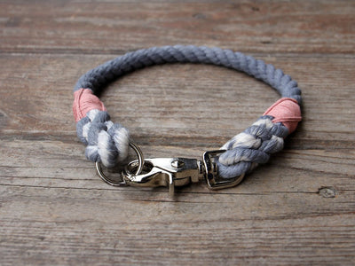 Seaside Blue Organic Cotton Rope Dog Collar