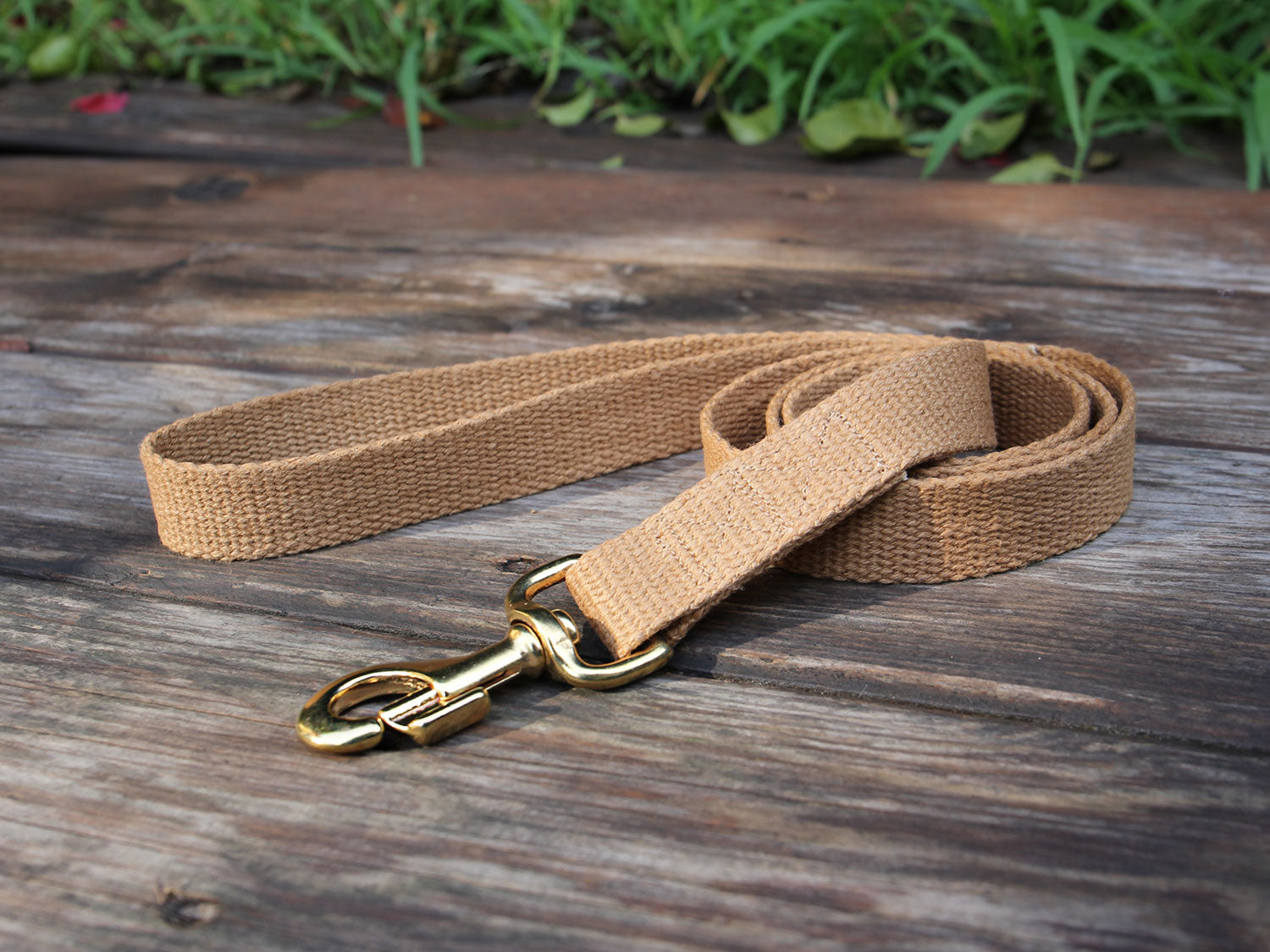 Tea-Stained Just Hemp Flat Dog Leash