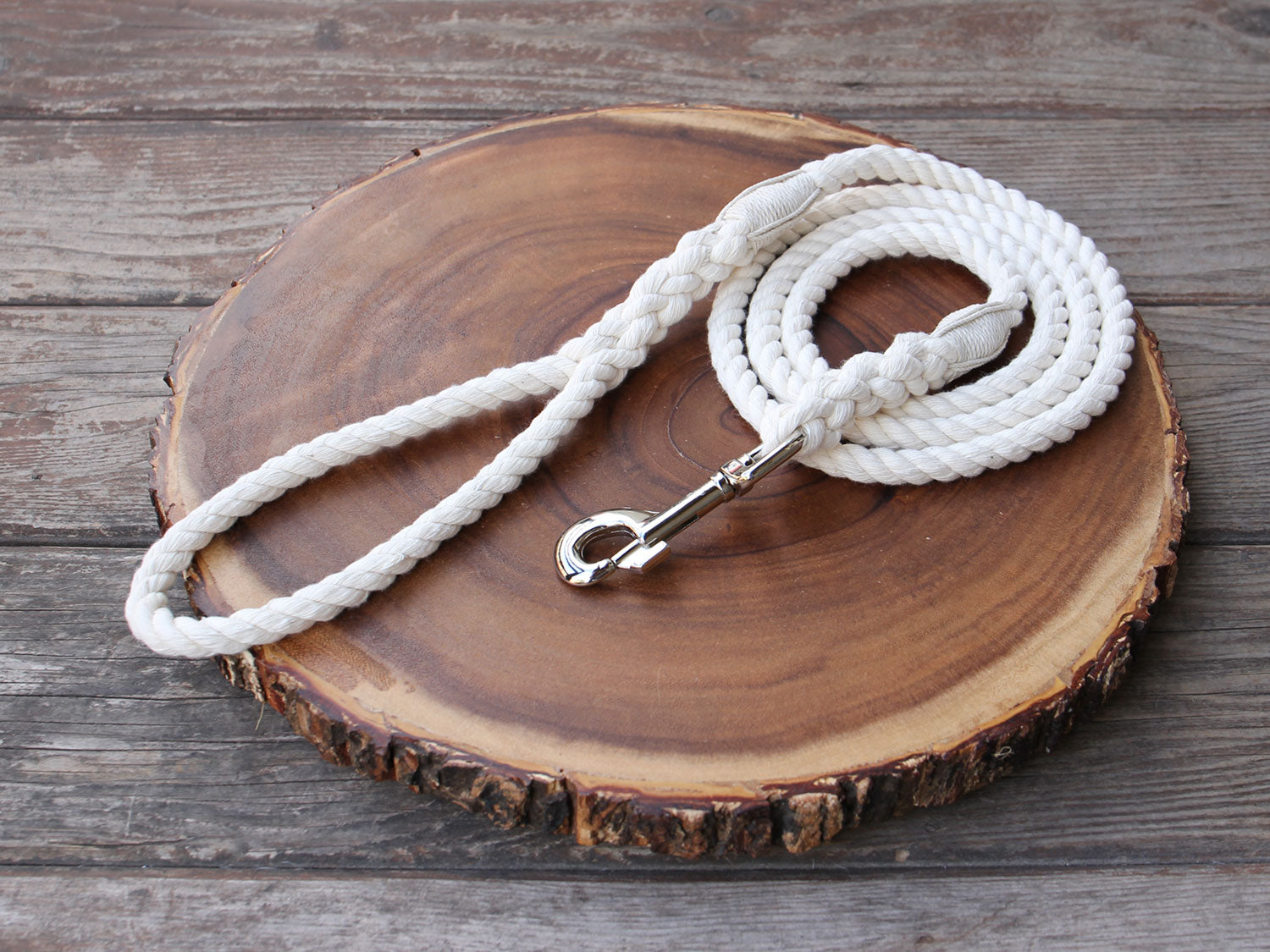 "Organic Cotton Rope Dog Leash 1/2"" (12mm)"