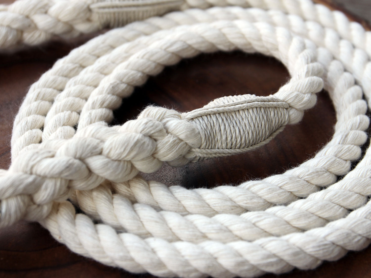 undyed Natural Cotton Rope Leash