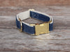 Denim Dog Collar Brass Hardware