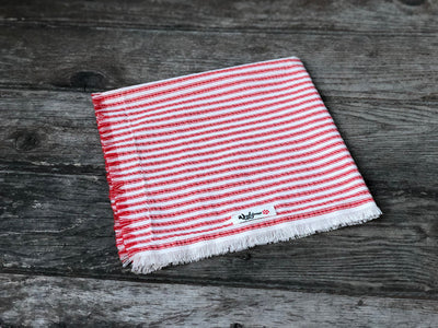 Fringed Candy-striped Dog Bandana