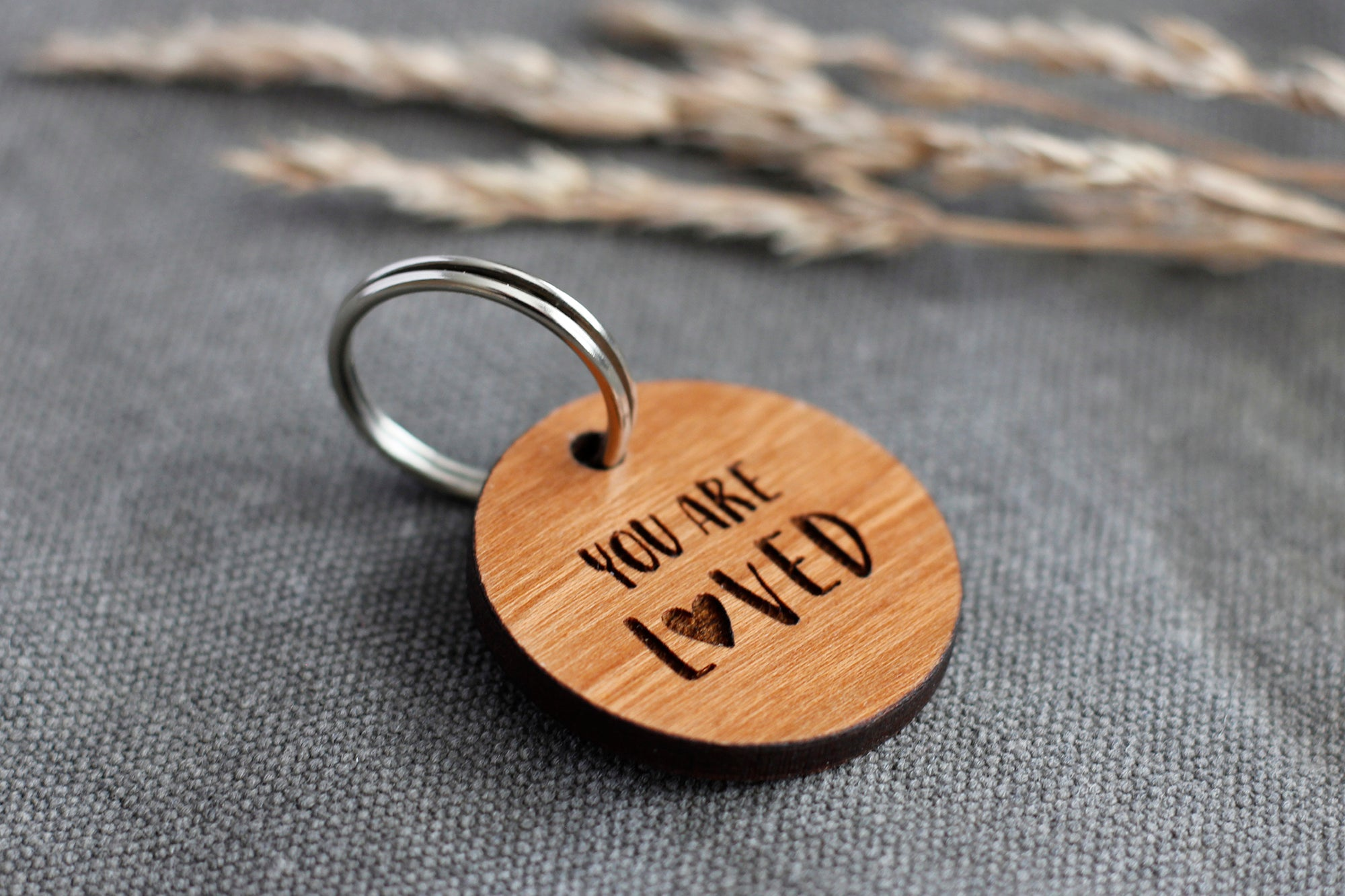 """You Are Loved"" Wooden Pet ID Tag"