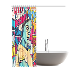 "Mind Blown Shower Curtain - Woke print Edition (69""x84"")"