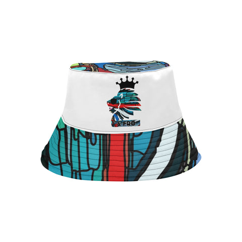 Blue Abstract Bucket Hat