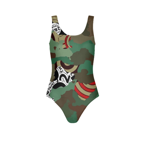 © 2&Fro Green Camo Ladies One-Piece Swimsuit