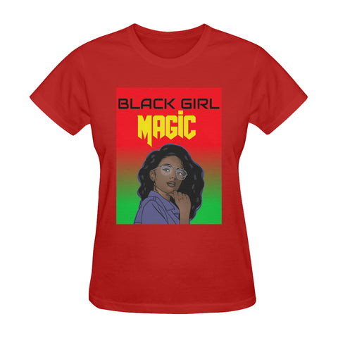Women's Red BGM Tee