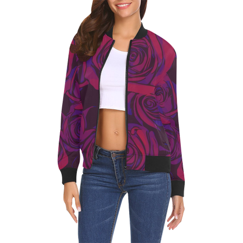 Dope Rose Plum bomber jacket - ladies
