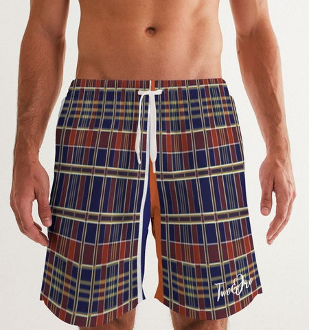 Mad Plaid Men's Swim Trunks