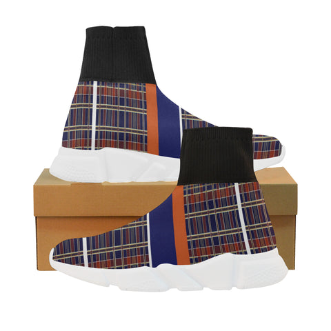 Mad Plaid mock sock sneakers : Ladies