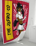 "Black Anime Shower Curtain 72""x72"""