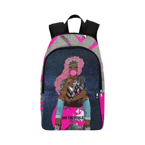 Sitting On Top of The World - Pink Power (Glow Up) Backpacks