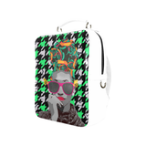 Houndstooth Calypso Lime Backpack