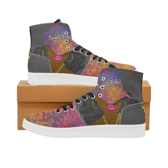Black Pinkcasso High Tops