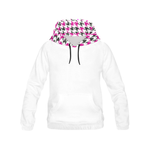 Houndstooth BubbleGum Hoodie  - Ladies