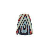 Calypso Skater Skirt - blue/red