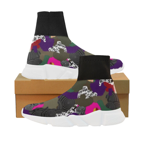 Warfare Camo sock sneakers -Ladies (6 colors)