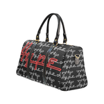Hype Waterproof Travel Bag/Small (Black/flame)