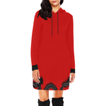 Red Dragon Hoodie Dress