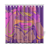 "Babyface shower curtain 72""x72"""