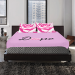 Dope Pink Rose 3-Piece Bedding Set