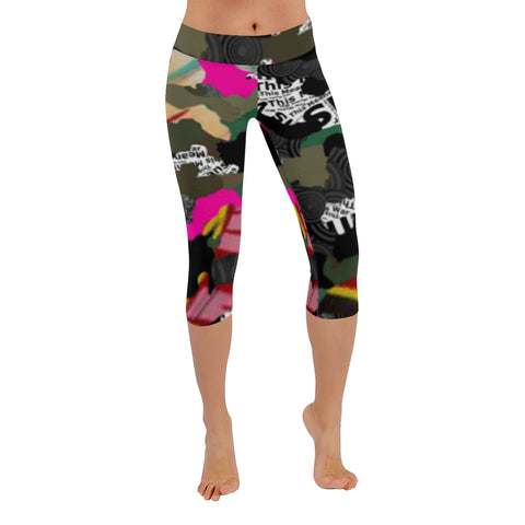 Warfare  Low Rise Capri Leggings XXS-5XL