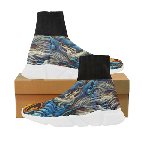 Fire and Ice Mock Sock Shoes