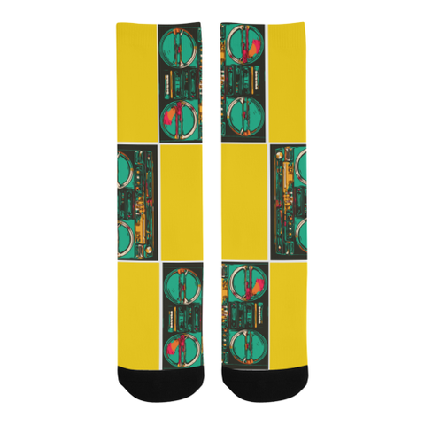 Checka' Boombox Socks