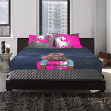Sitting On Top Of The World; The Glow Up  3-Piece Bedding Set
