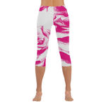 Dope Pink Rose  Low Rise Capri Leggings
