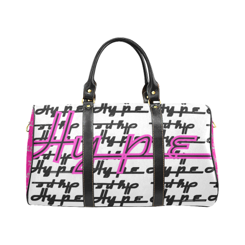 Hype Waterproof Travel Bag/Small (White/Pink)