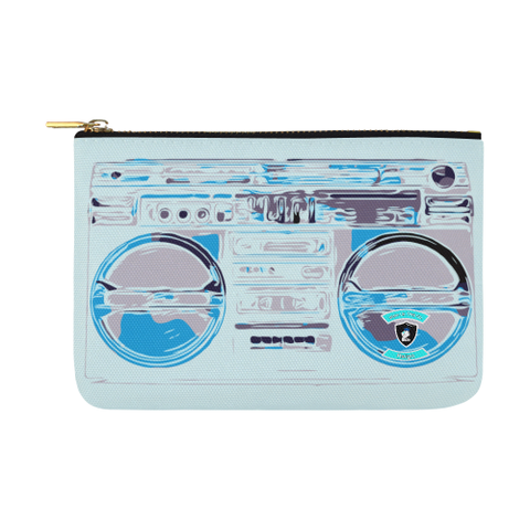 Electric Blue BoomBox Carry-All Pouch 12.5''x8.5''