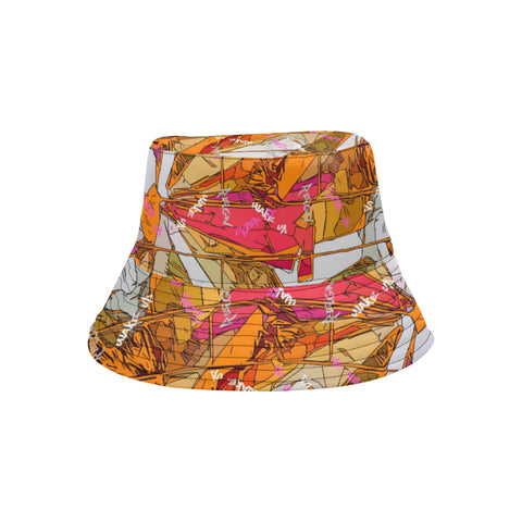Orange Signature Burst Bucket Hat