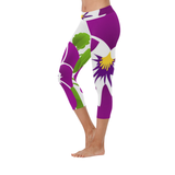 African Violet Low Rise leggings