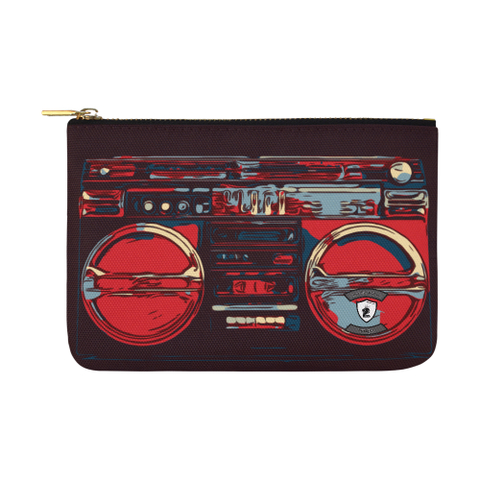 Baby Blue Red BoomBox  Carry-All Pouch 12.5''x8.5''
