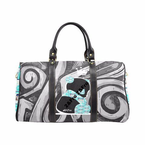 Panda Royalty (Nuclear blue) - Waterproof Travel Bag (Large)