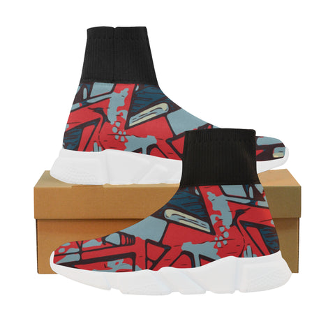 Rap Battle Liberty sock sneakers