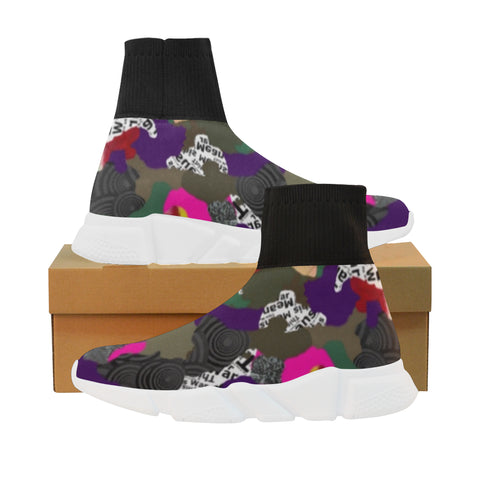 Warfare Camo sock sneakers - Men (7 colors)