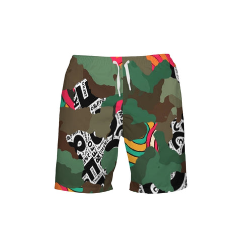 Wild Child Camo  Men's Swim Trunk