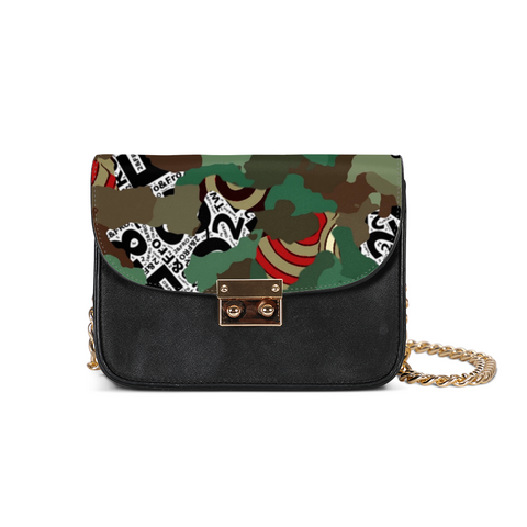© 2&Fro Green Camo print Small Shoulder Bag