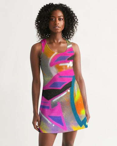 2 Fly Graffiti Women's Racerback Dress