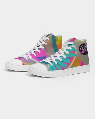 2 Fly Graffiti Women's Hightop Canvas Shoe