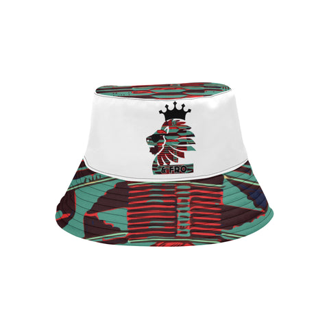 Teal Kente Bucket Hat