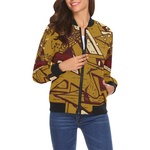 Graffiti Brown Step Up Bomber - Ladies