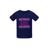 Purple Girl Boss Kente Tee - Kids