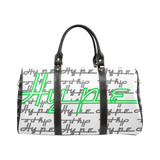 Hype Waterproof Travel Bag/Small (White/Lime)