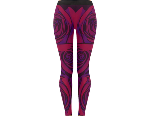 Dope Rose Leggings - Plum