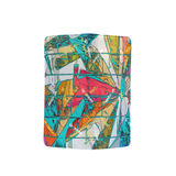 teal burst Clutch / Wristlet